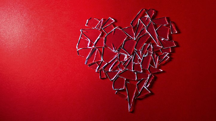 broken heart glass